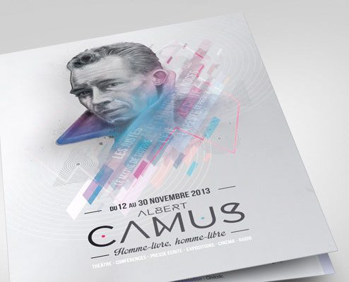 Conception graphique communication Albert Camus ville de millau