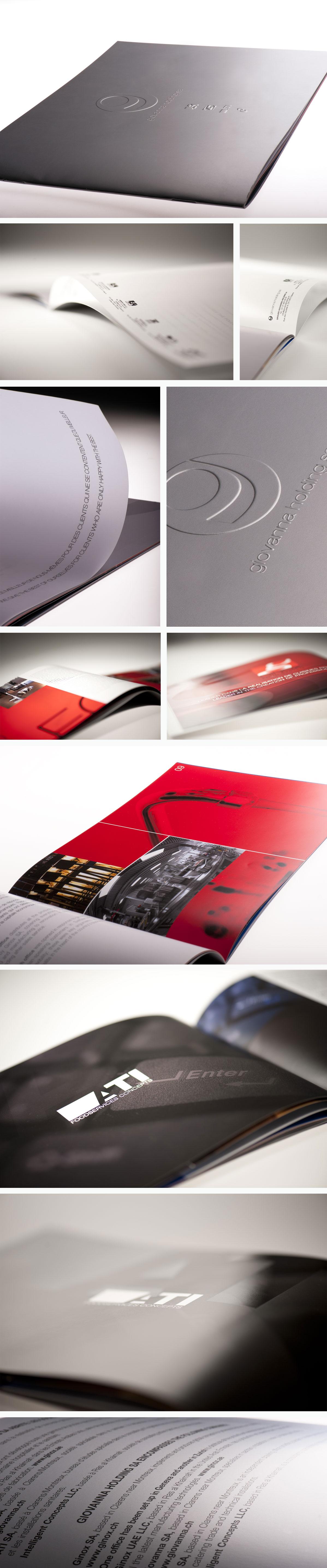 Creation graphique plaquette prestige Ginox Cuisine