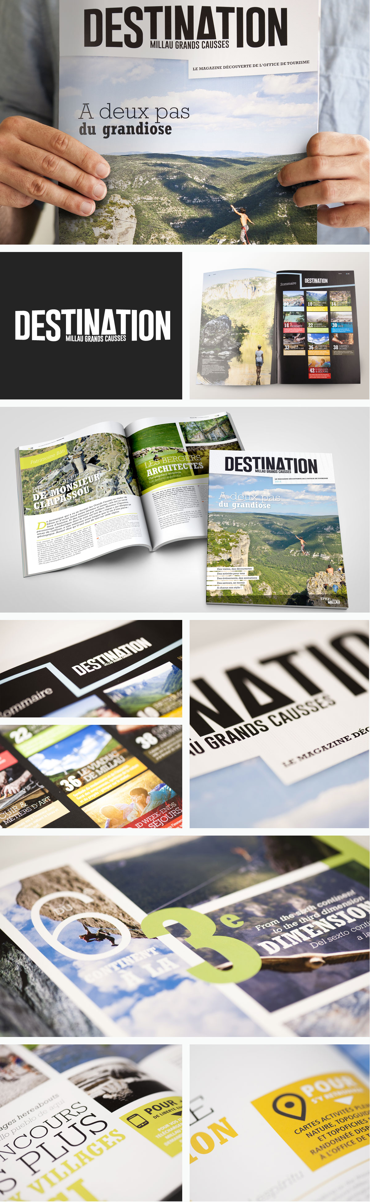 graphisme magazine Tourisme Style Millau