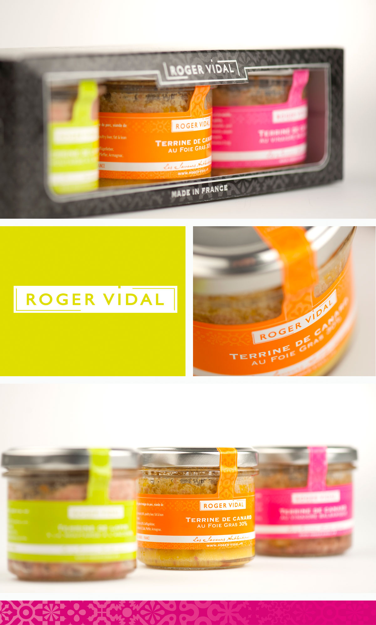 Creation packaging alimentaire Roger Vidal