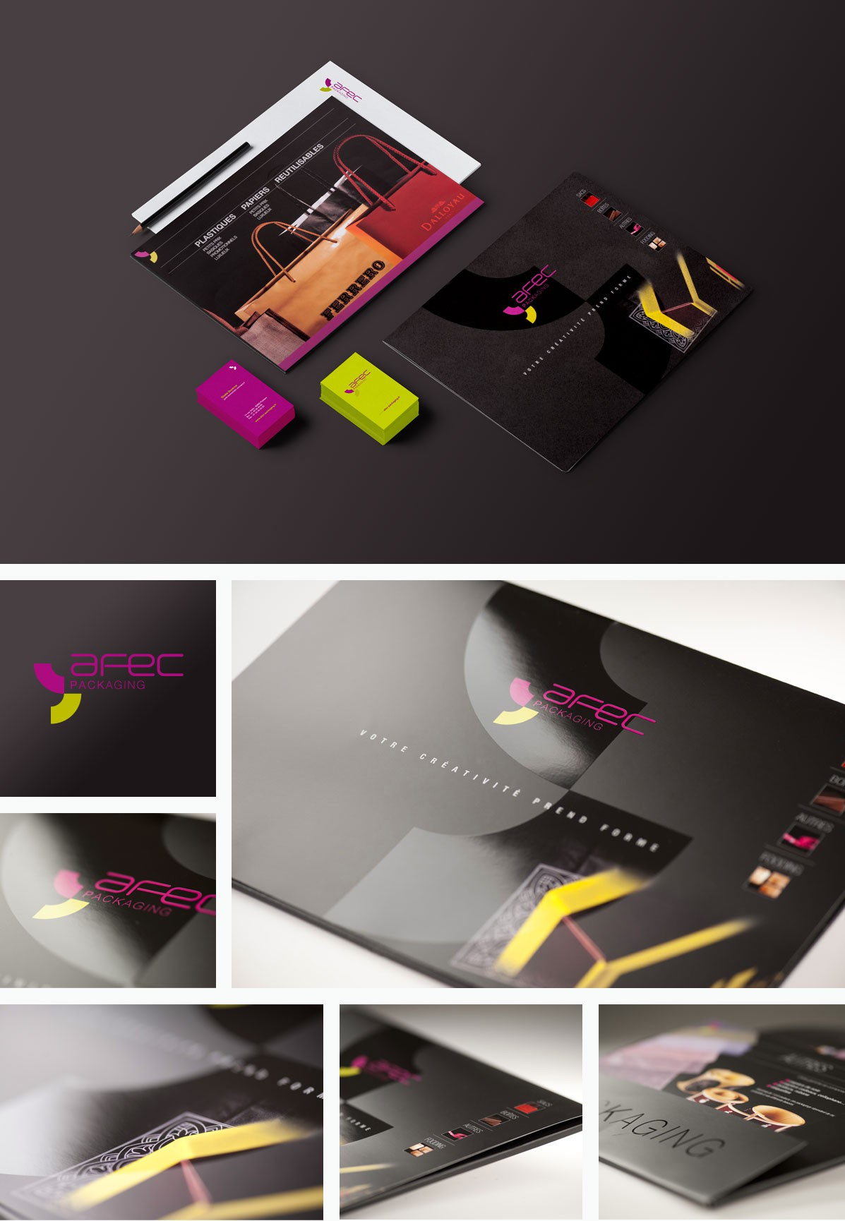 Creation packaging plaquette logo agence communication underkult