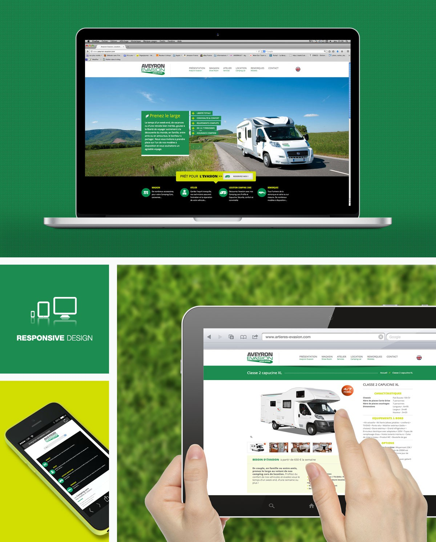 Creation site web Aveyron Evasion agence web underkult