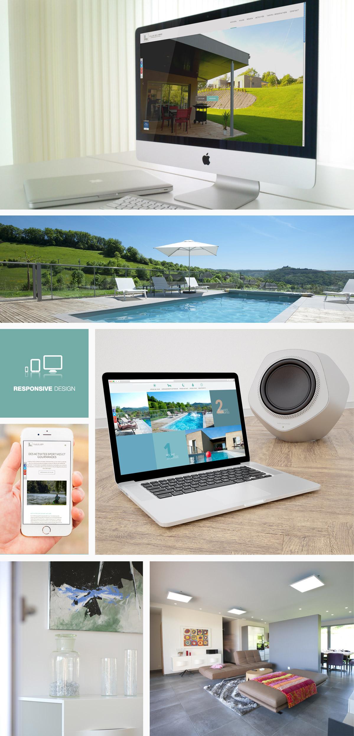 Site internet Aveyron Villas Labro
